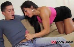 Hot Latina MILF Fucks Young Guy