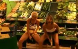 Public masturbation at the market