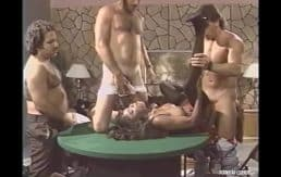 Legend Pornstar Domonique Simone Takes on Randy West, Steve Drake, Ron Jeremy and Derek Lane In The Middle of a Poker Game